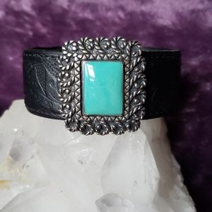 Jewelry - Turquoise & Leather Cuff Bracelet
